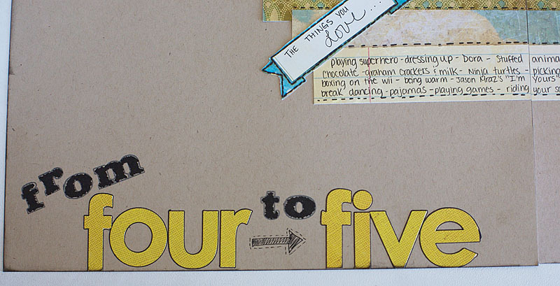 From 4 to 5 | Scrapbook Layout