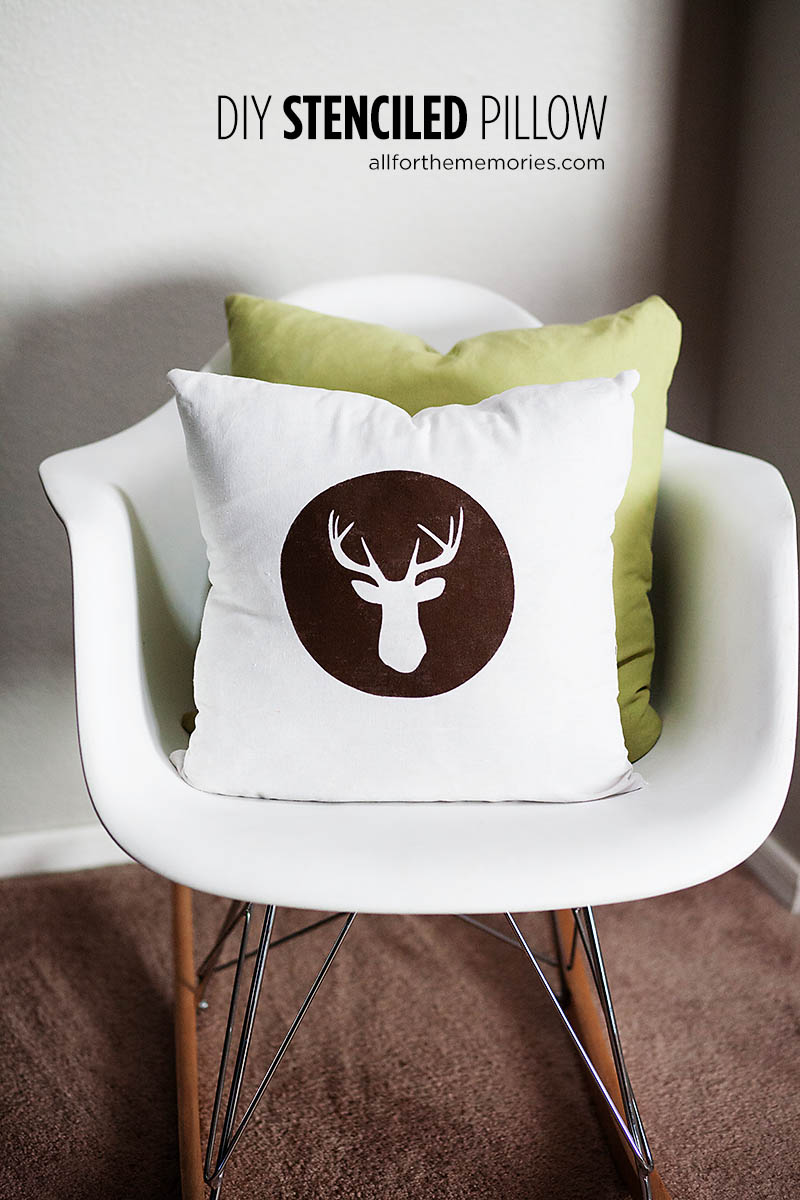Easy DIY Stenciled Pillow