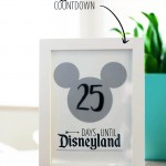 Disneyland countdown - free printable!