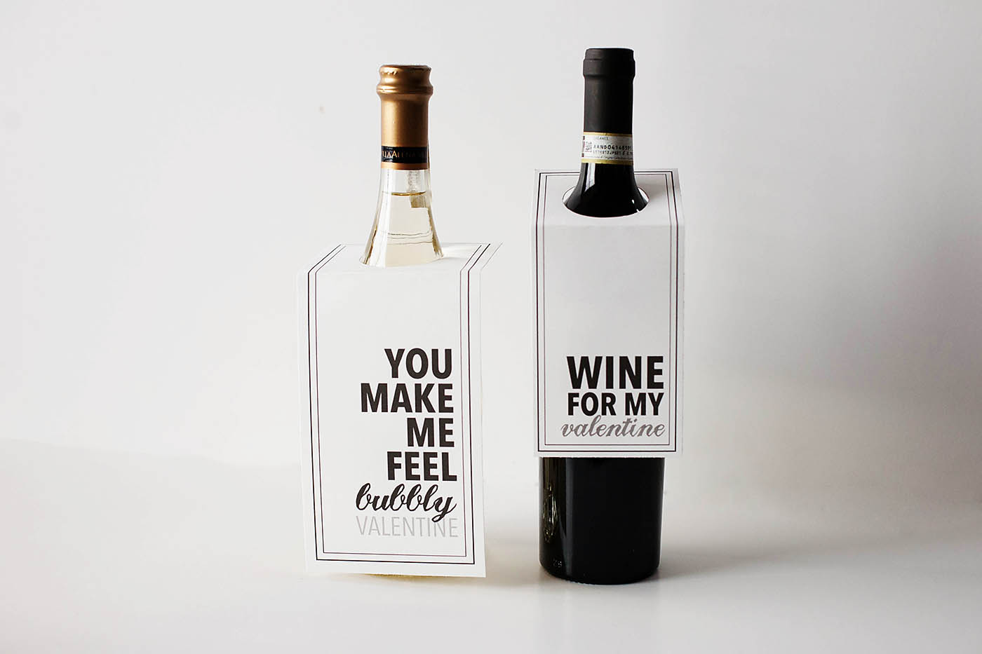 Free Printable Wine Or Champagne Valentines All For The