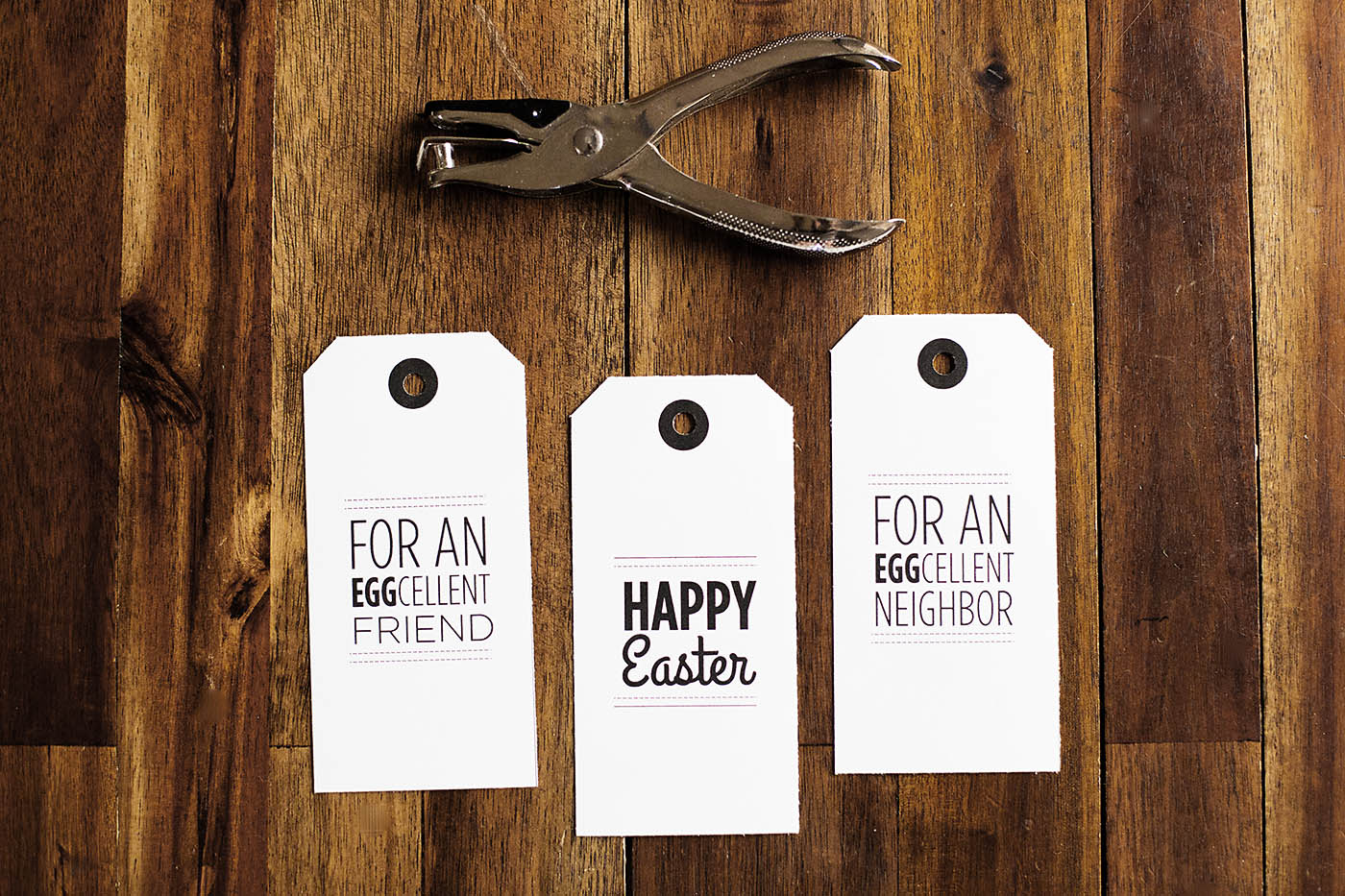 Free printable Easter tags - great for friend or neighbor gifts!