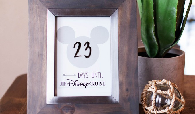 Printable Disney Cruise Countdown