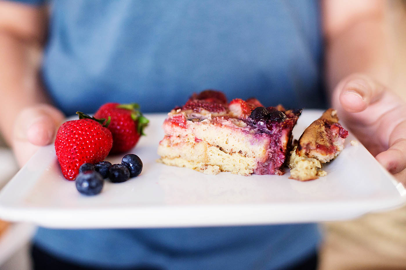 Gluten free (and dairy free) berry french toast casserole
