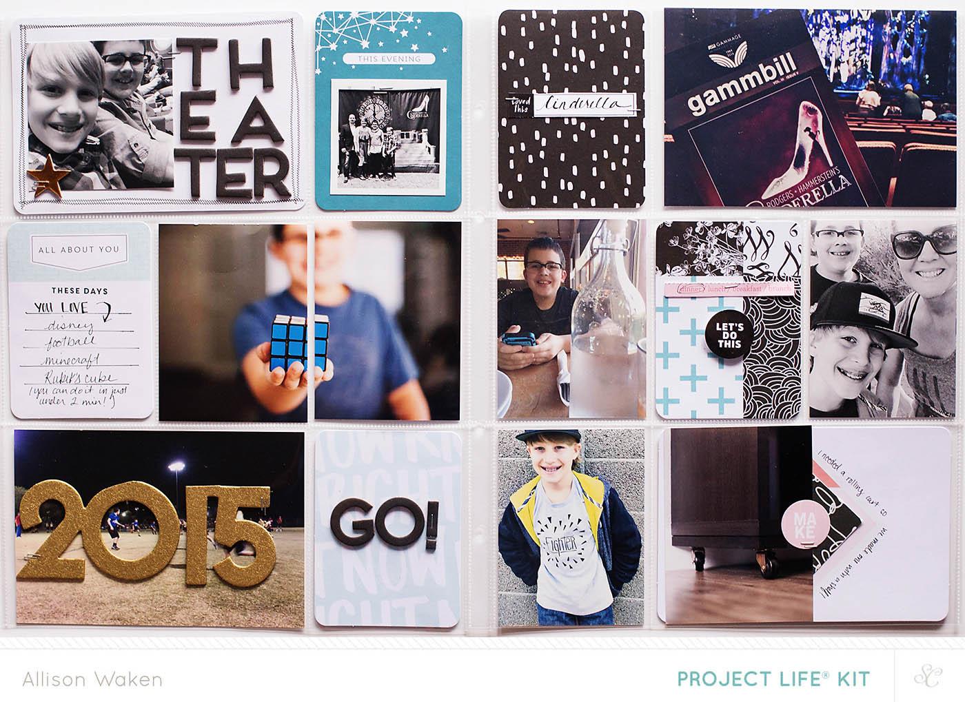 Allison Waken May 2015 Project Life Spread