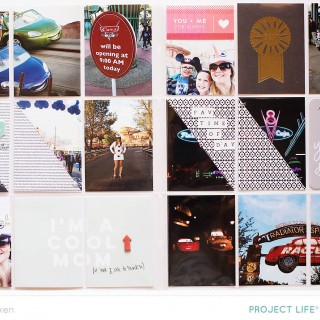 Allison Waken Disneyland Project Life Spread