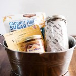 A fun way to package a gift basket for a gluten free friend!
