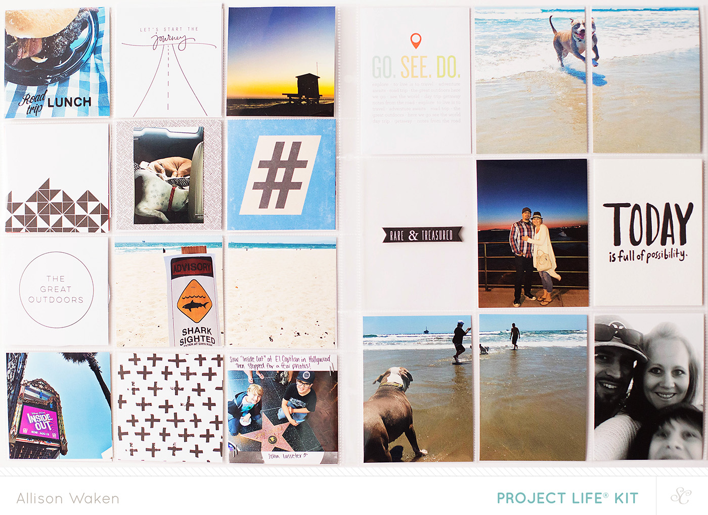 9x12 Project Life spread using Studio Calico kits - from Allison Waken at  All for the Memories