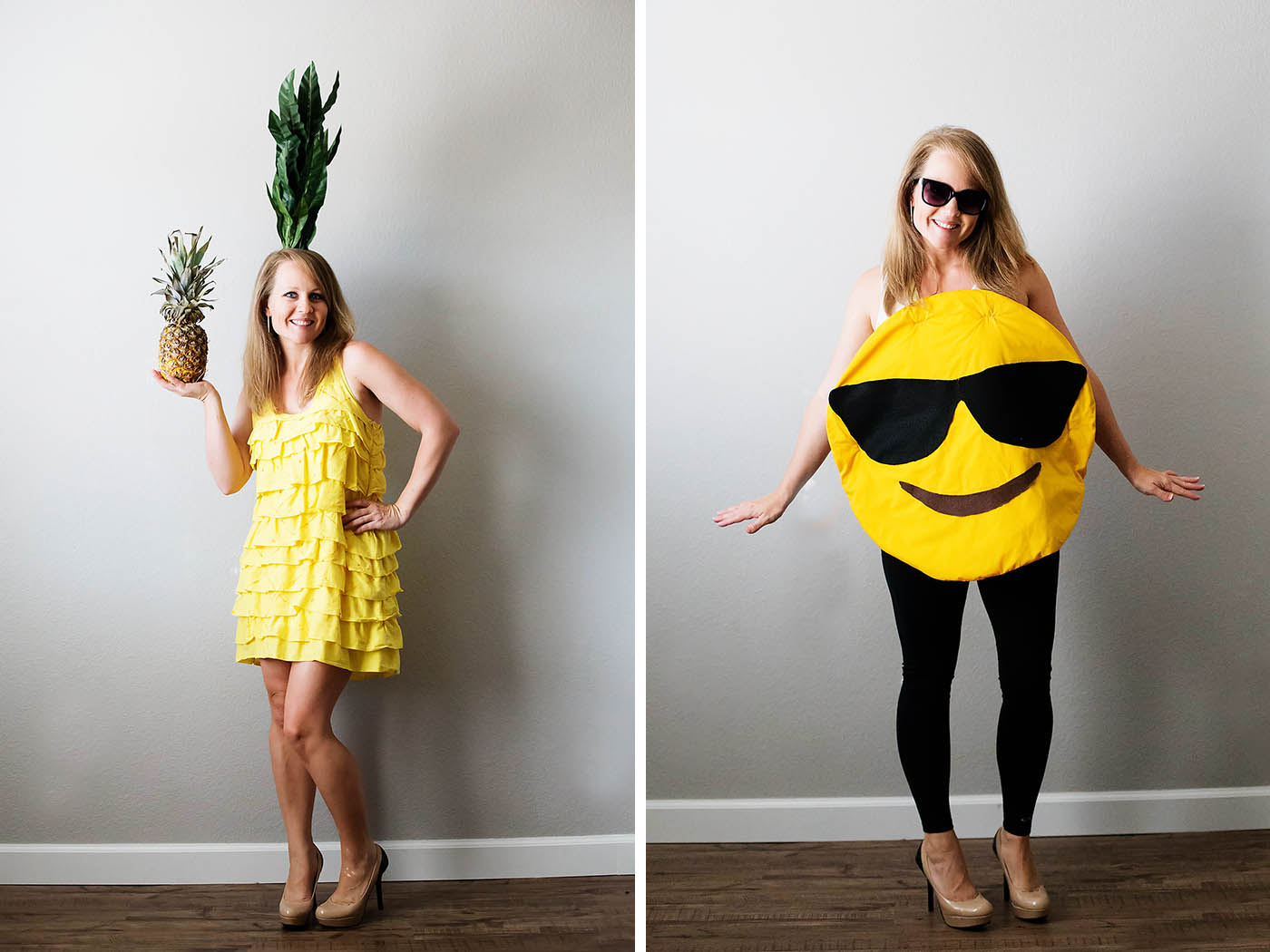 Diy pineapple and emoji costume from savers all for the memories solutioingenieria Gallery