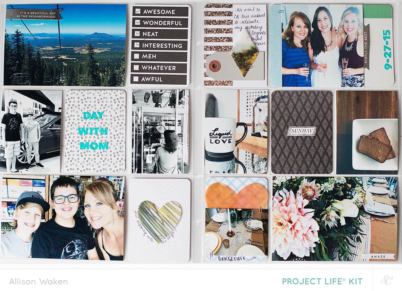 Allison Waken September album spread using 9x12 page protectors