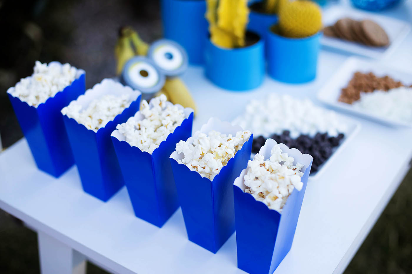 Fun backyard Minions movie night party!