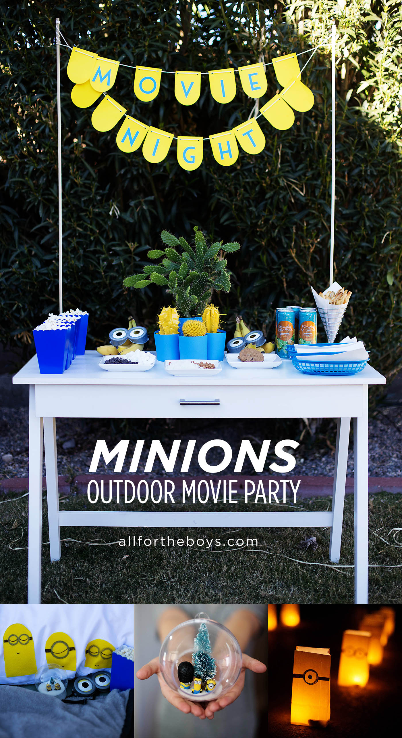 minions outdoor movie night party u2014 all for the boys