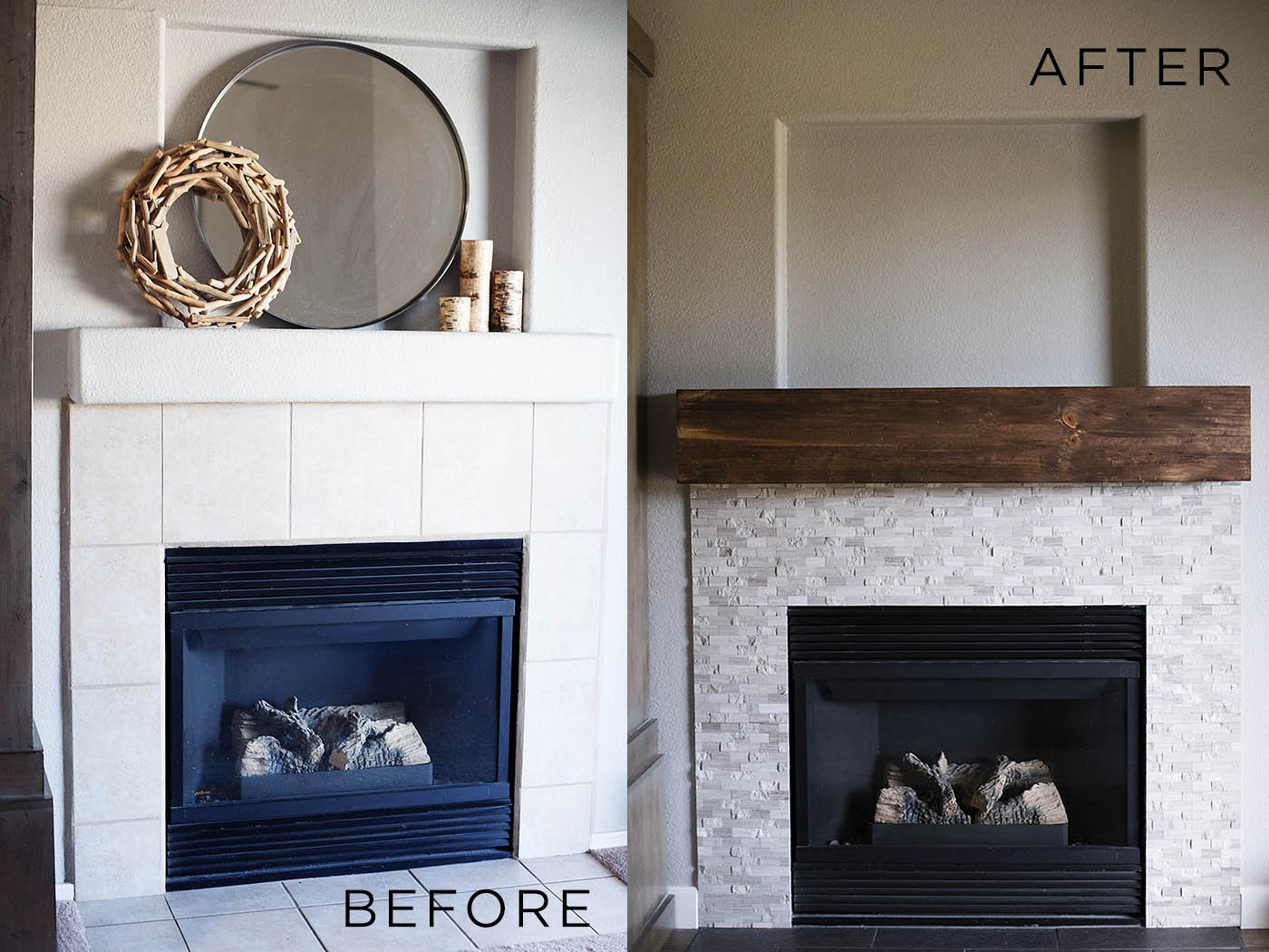 Fireplace Before & After