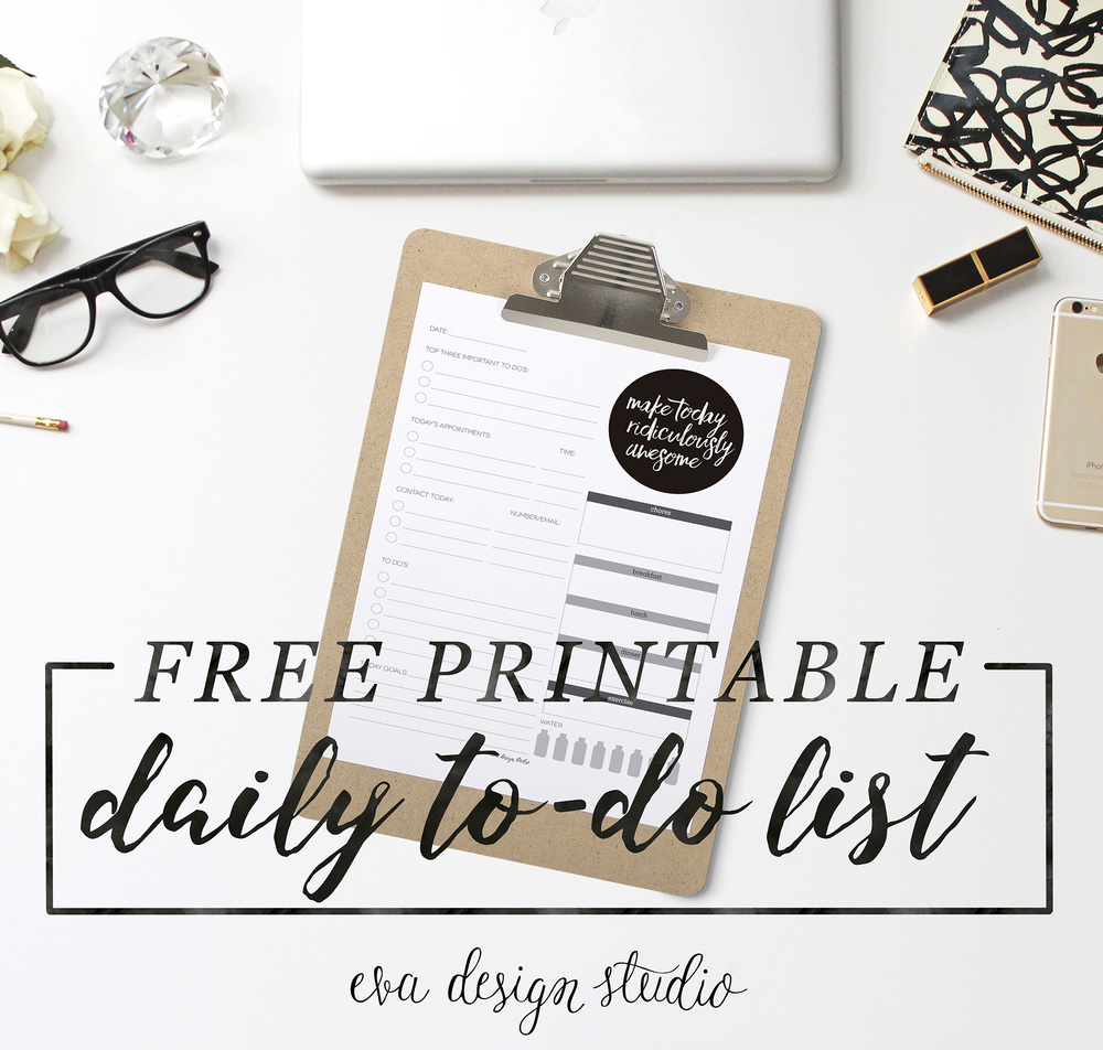 Free Printable Daily To Do List + Getting Organized