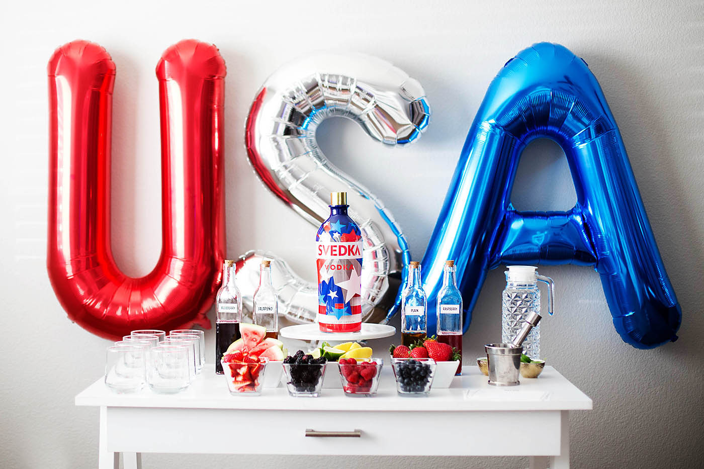 Patriotic Party DIY Cocktail Bar