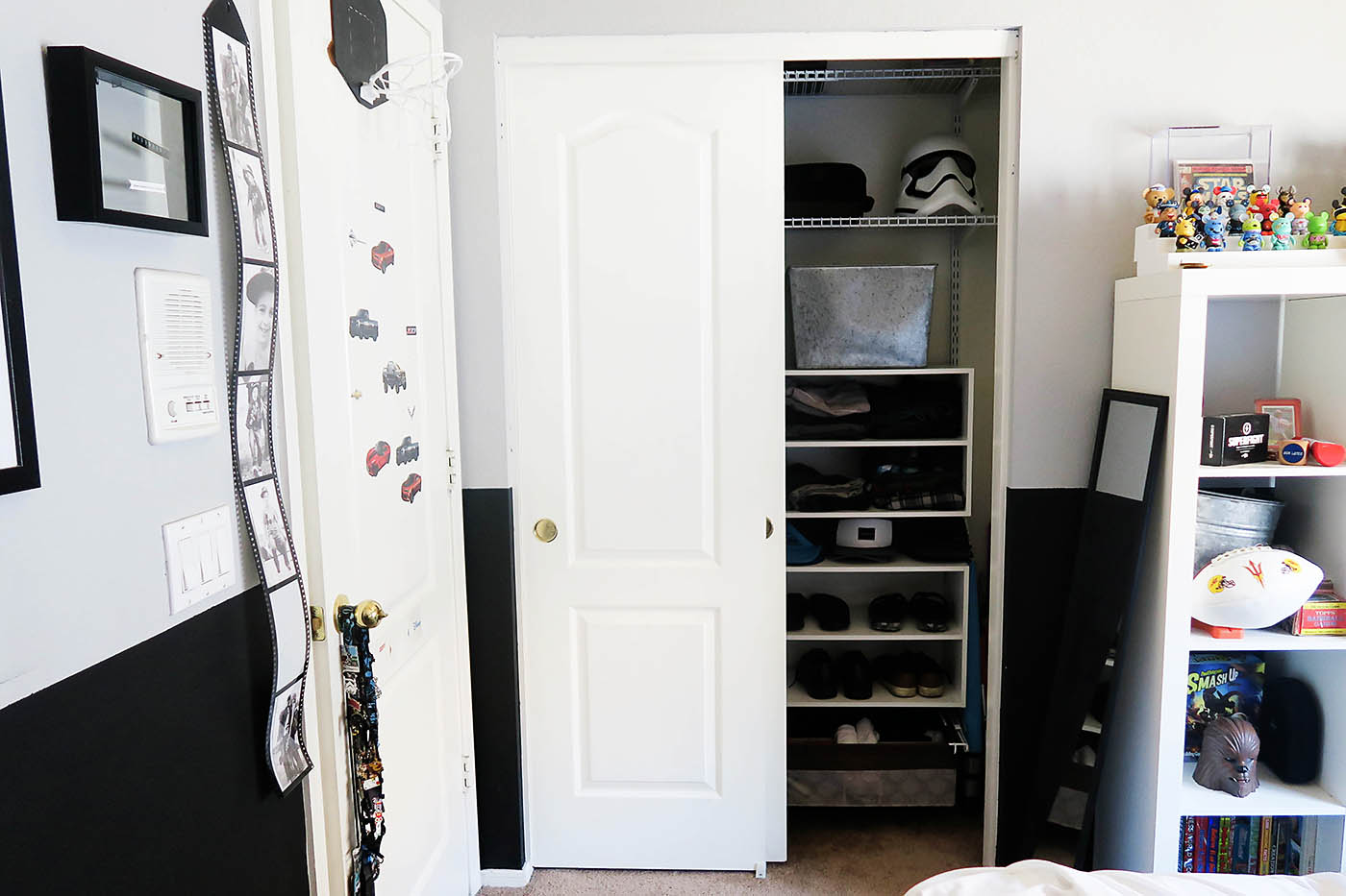 Teen Closet Re-do & the Art of the Clothes Roll