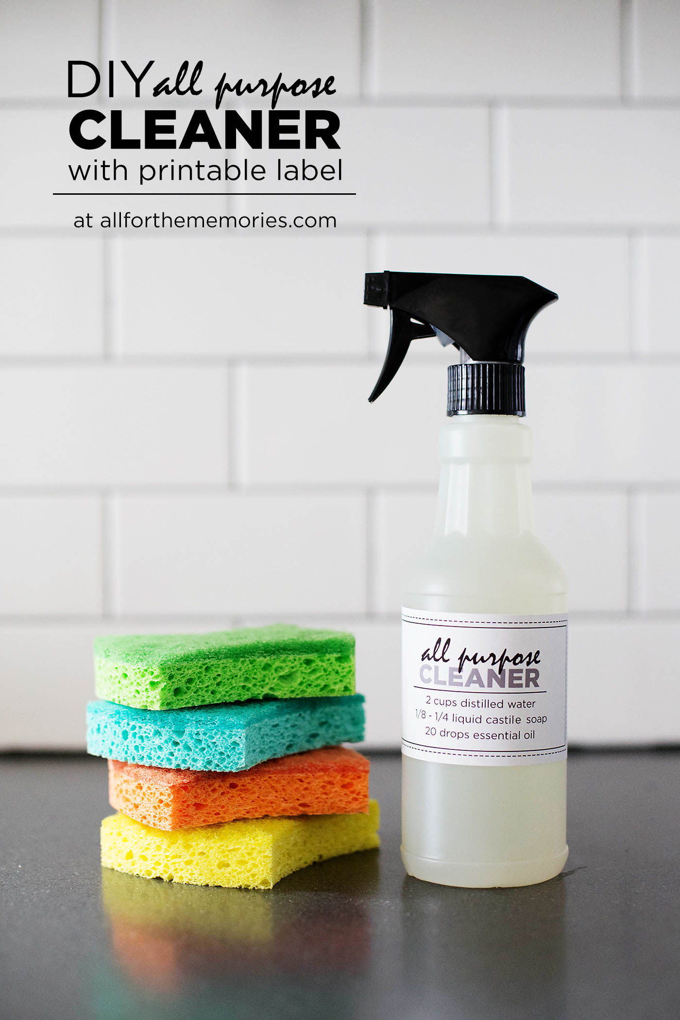 diy all purpose cleaner with printable label. Black Bedroom Furniture Sets. Home Design Ideas