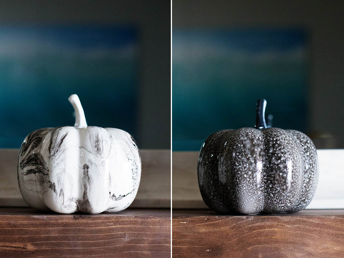 Marbled pumpkins from Target