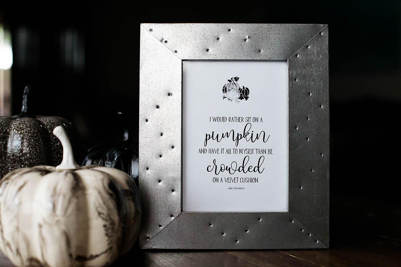 Printable Thoreau Pumpkin Quote