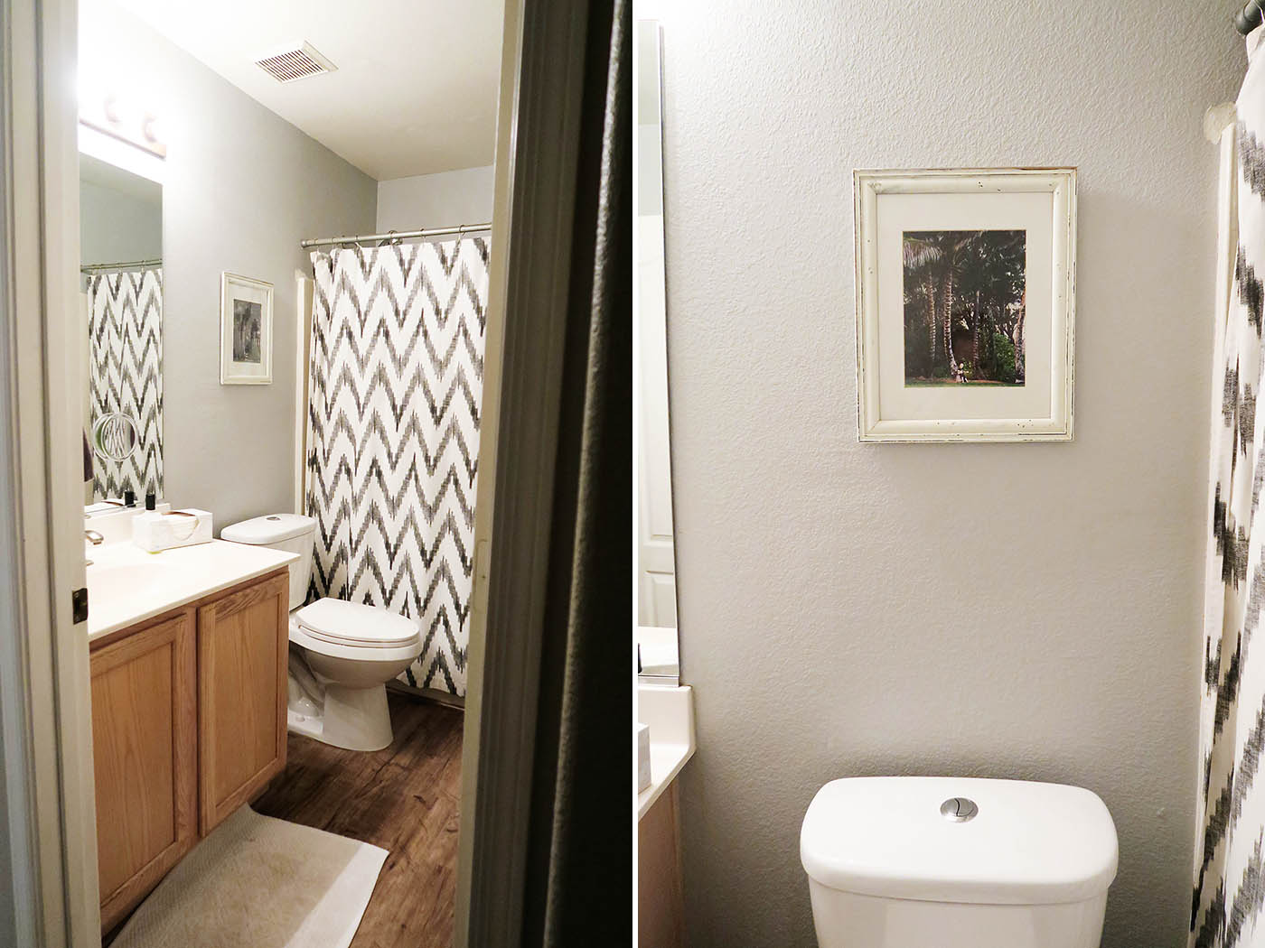 Holiday bathroom decor - before
