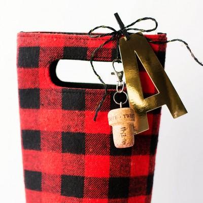 Wine Cork Memorabilia Gift Tag or Keychain