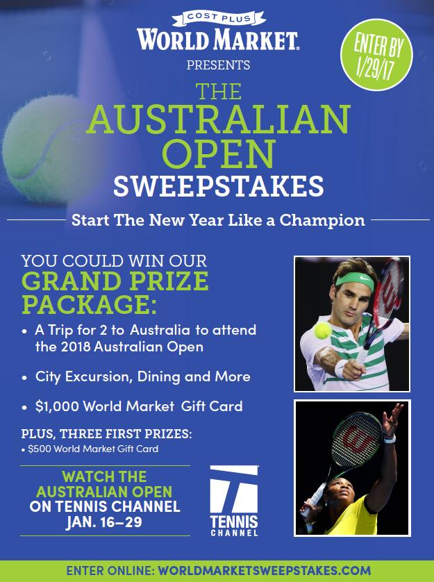 Cost Plus World Market Australian Open