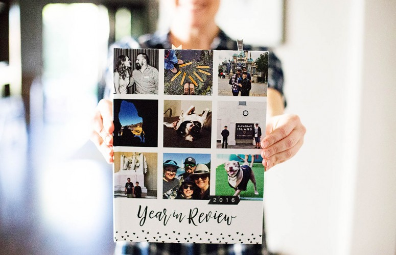 2016 Year In Review Book Bound Album with Mixbook