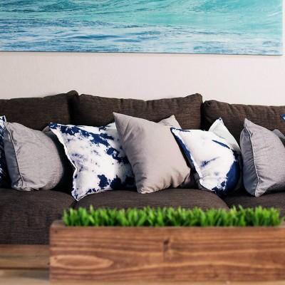 DIY Shibori Pillow Covers