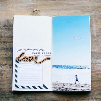 Quick Summer Traveler's Notebook Spread